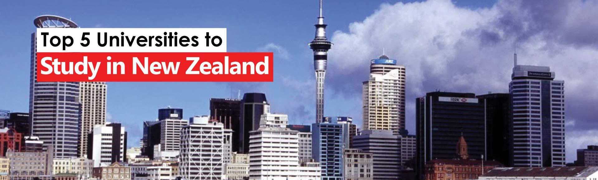 Top 5 Universities to Study in New Zealand