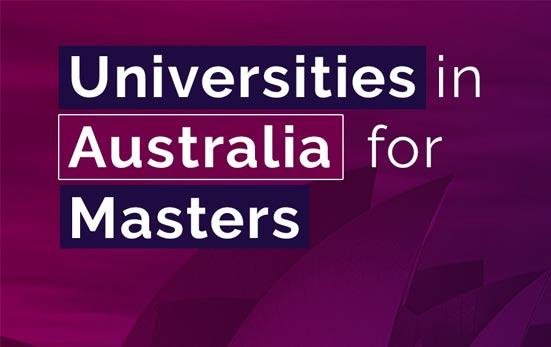 Universities in Australia for Masters