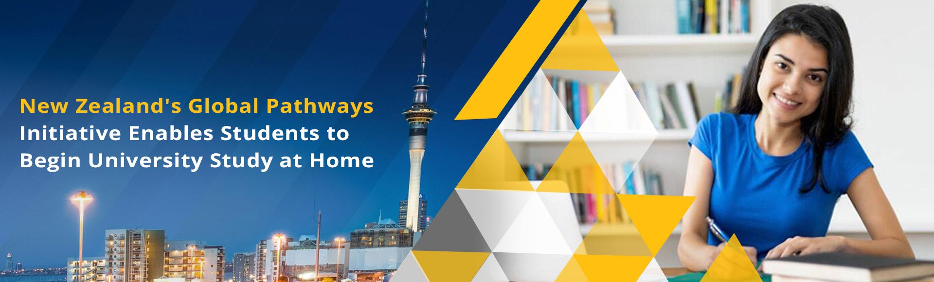 New Zealand's Global Pathways initiative enables students to begin university study at home